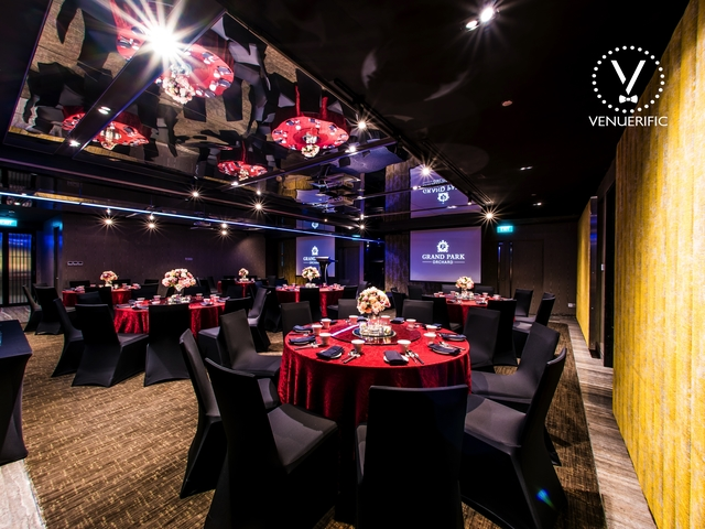 hotel ballroom equipped with state-of-the-art technology