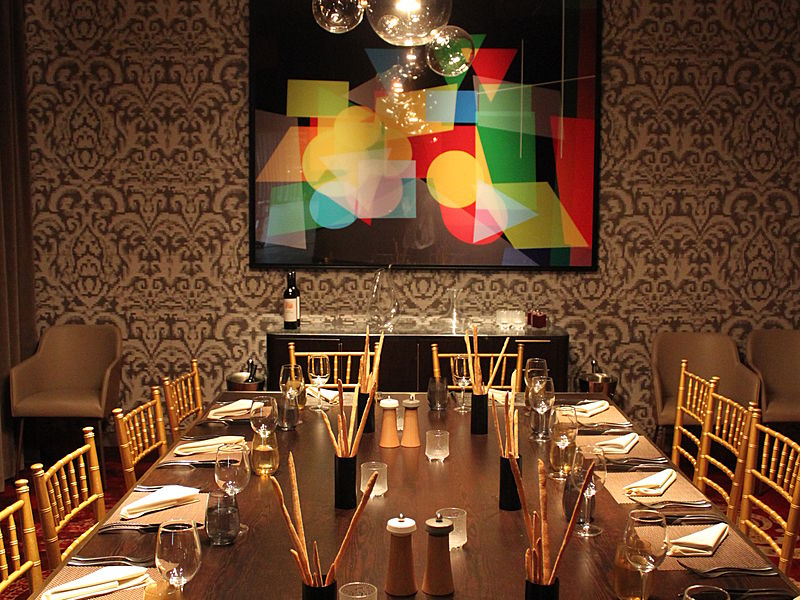 exclusive bellisima private dining room for private party