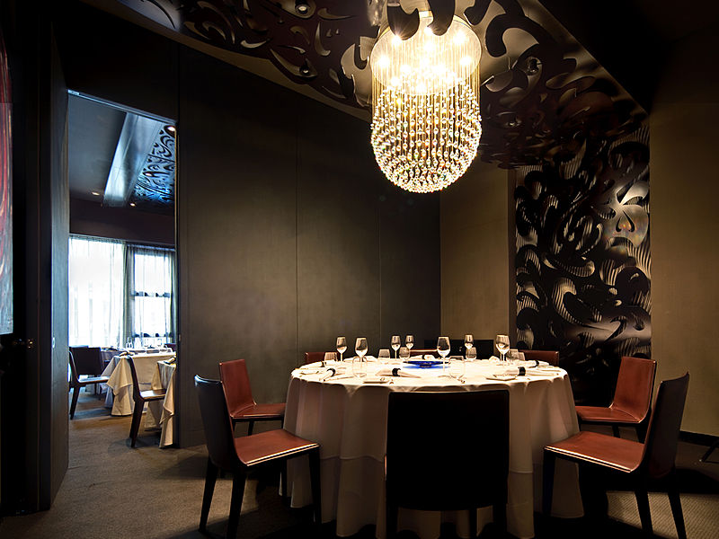 modern french restaurant with private dining room for four pax