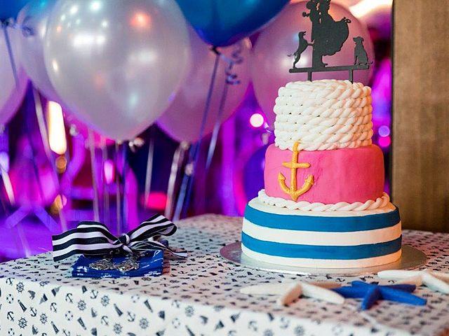 three layer wedding cake with pirate themes