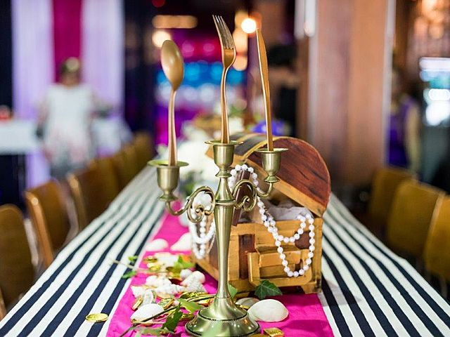 gold and candle table decoration for after prom party