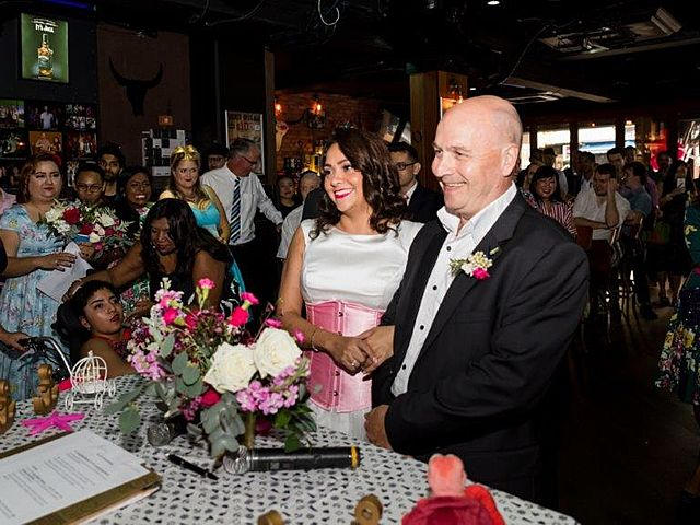 groom and bride happy smile for their wedding celebration