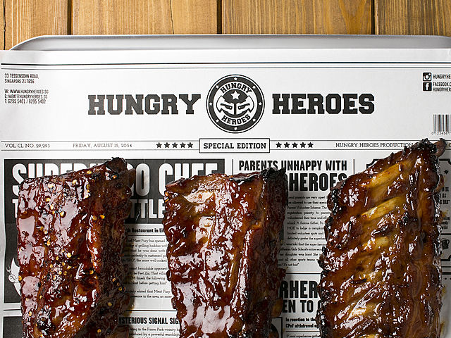 delicious ribs from hungry heroes singapore