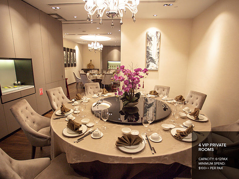 elegant private room with beautiful light for corpore event