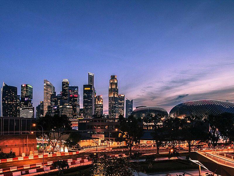panoramic city view at singapore