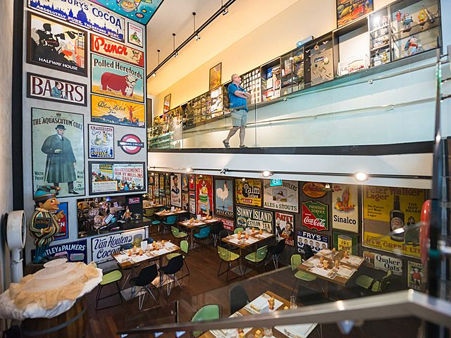 restaurant with unique toy museum singapore