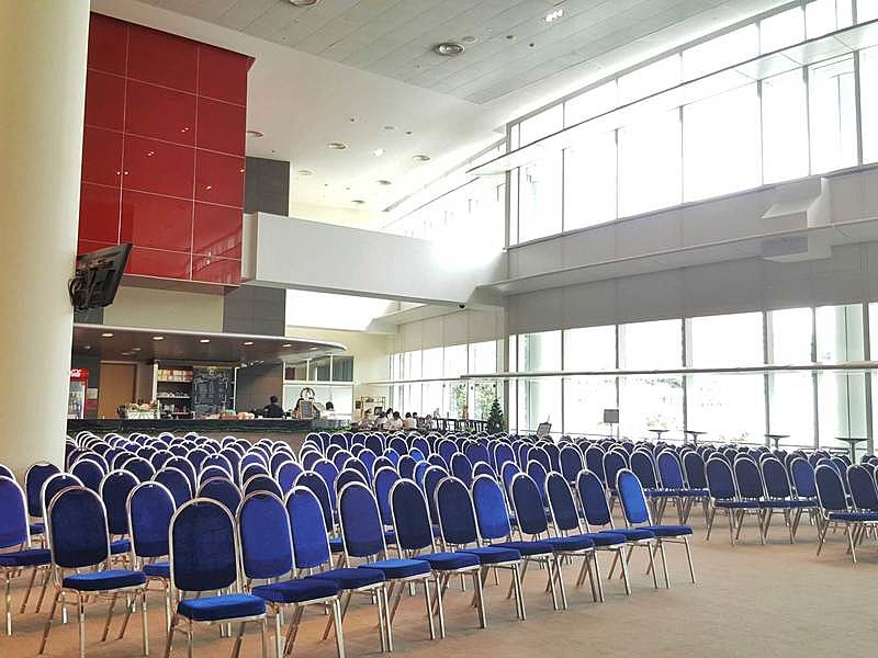 chair set up for the seminar can cater 250 capacity