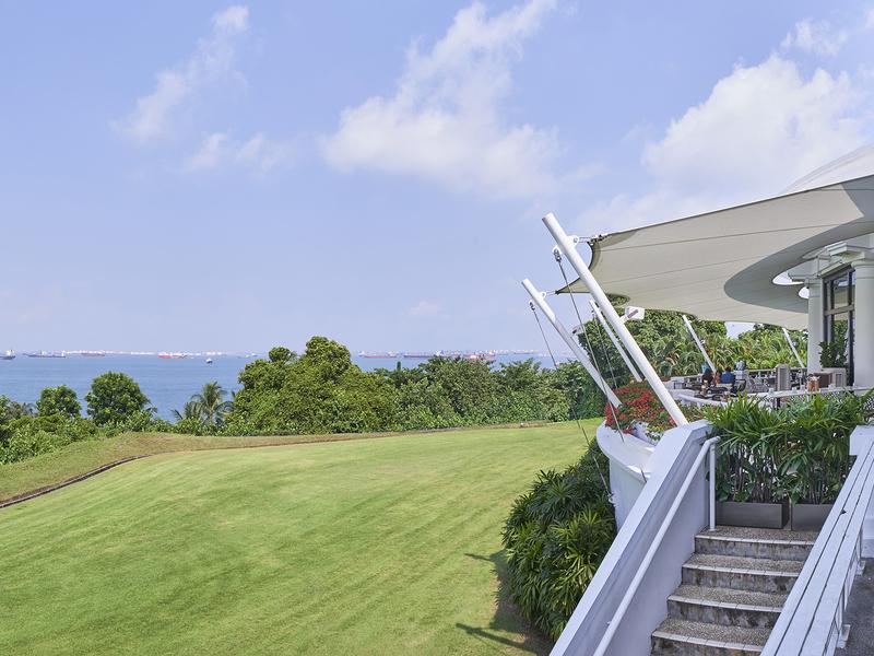 prestigious golf club set against the scintillatingly South China Sea