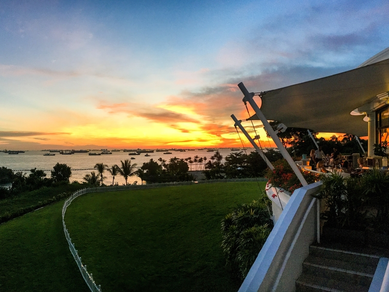 sunset view from Singapore's finest and most prestigious golf club