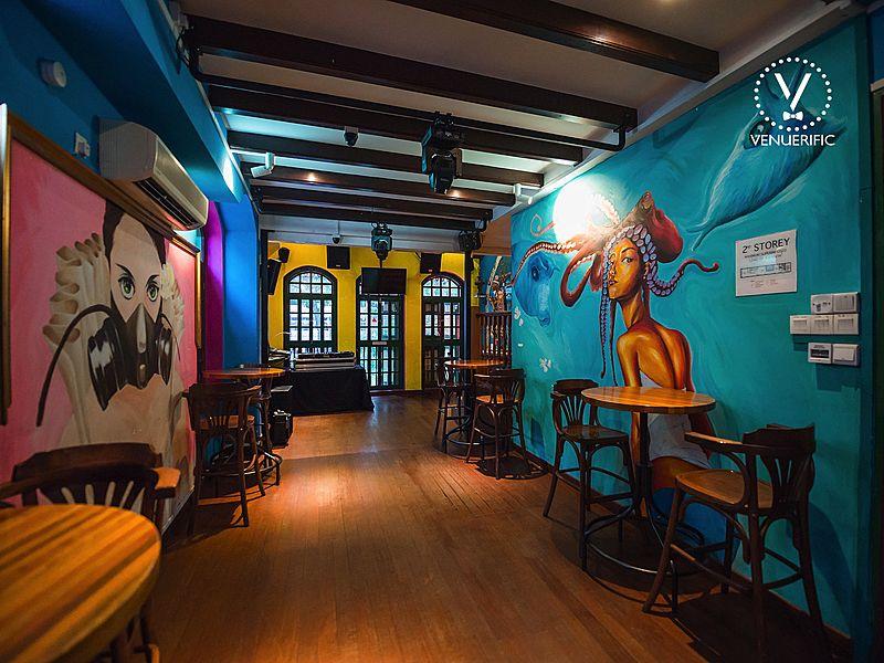 themaric bar with wall graffiti