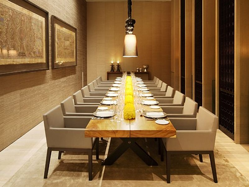 private dining room with long table set up