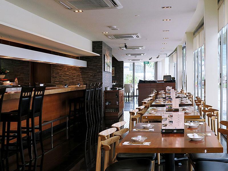 medium scale japanese restaurant with mini bar