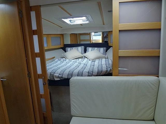 yacht mini bedroom with sliding doors