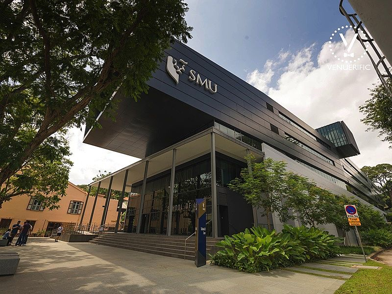 smu event spaces singapore frontage with some trees