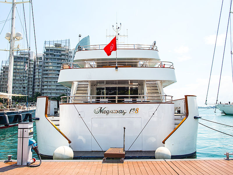superyacht megaway 128 singapore is lean on the harbor