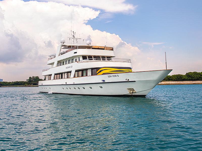 superyacht megaway 128 singapore sailing on the sea