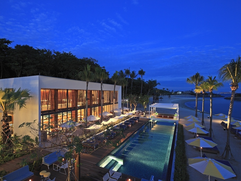 private event space with large outdoor pool in sentosa singapore