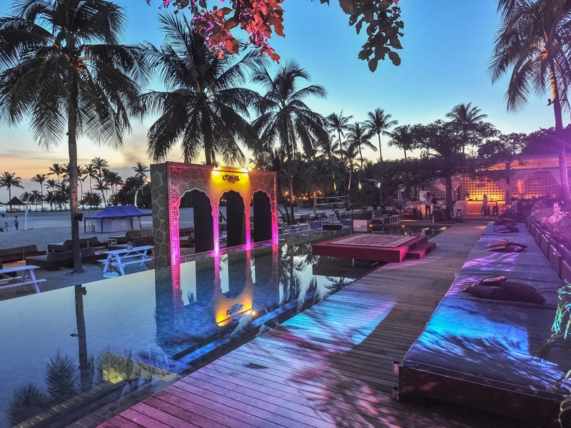 pool party venue with sea view in singapore