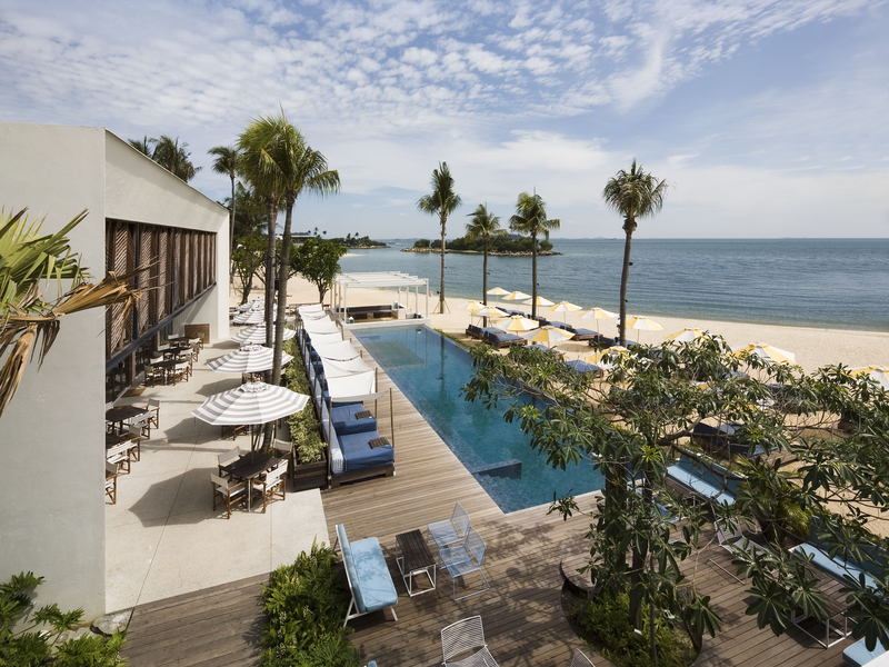 seaside event space in sentosa singapore with outdoor pool