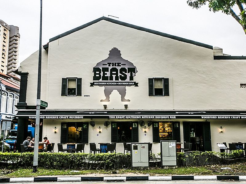 the beast singapore frontage with outdoor seating