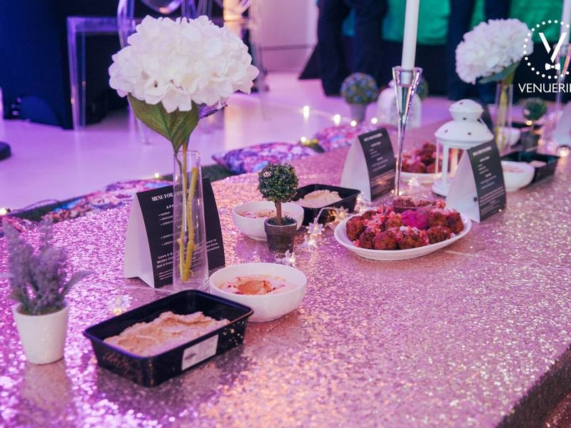 singapore venue with pink theme for product launch event