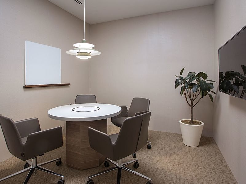 meeting room for 4 pax with tv screen and white board