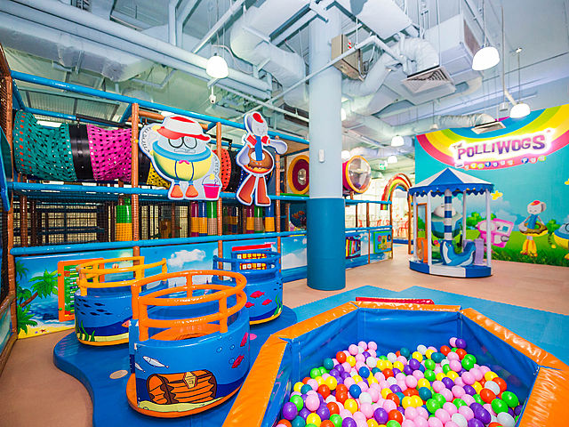 indoor kids playground with ball pit