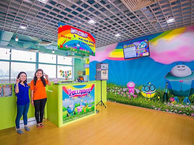 singapore private venue for kids event party with cartoon wallpaper