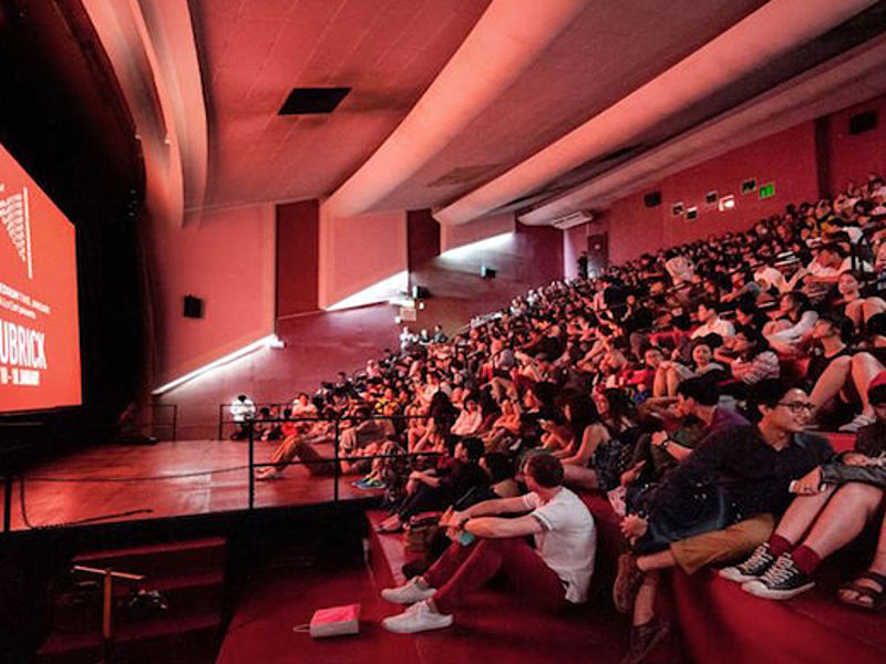 audiences fulfil a cinema to watch a movie