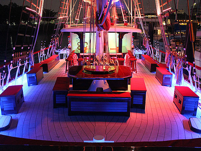 upper deck singapore ship for celebrate year end party