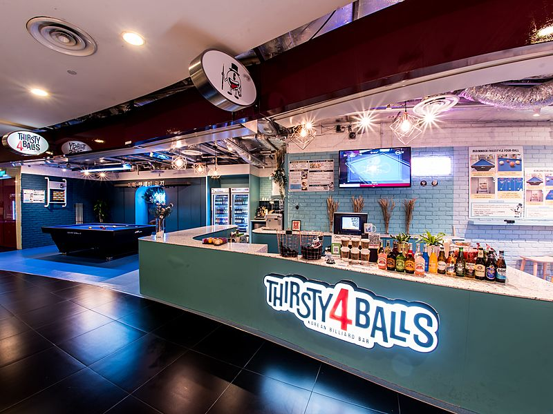 the frontage of thirsty4balls singapore