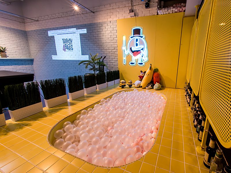 singapore event space with yellow ball pit