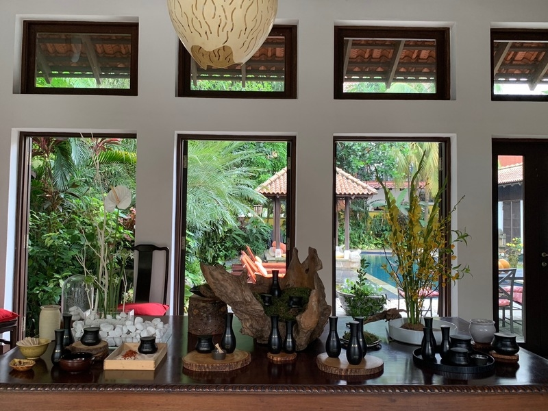 several large windows and pool view in singapore private villa