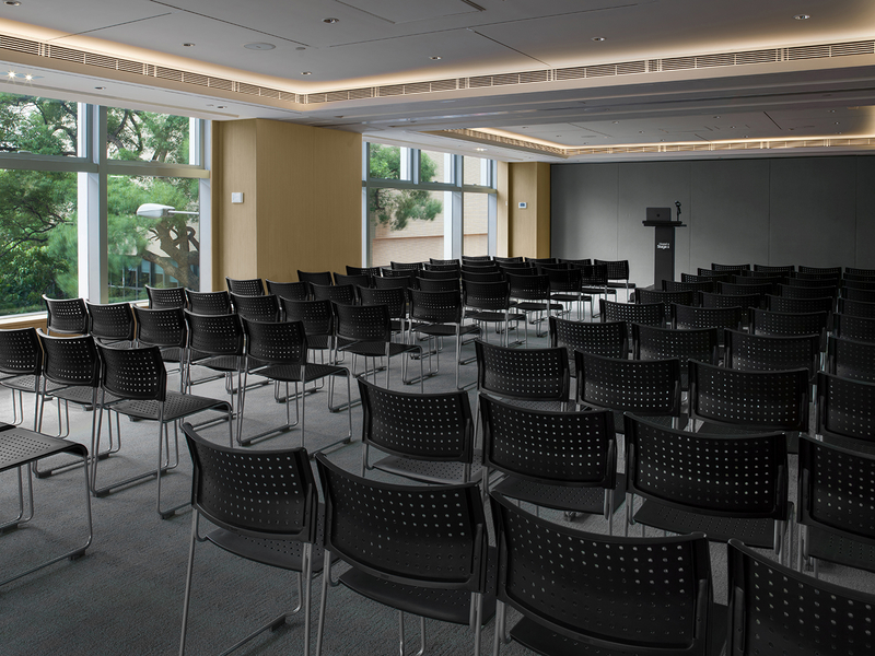 theatre seating style at function room equipped with stage