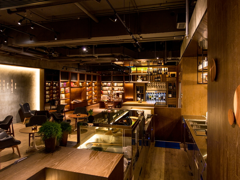 business lounge area dominated with wooden interior