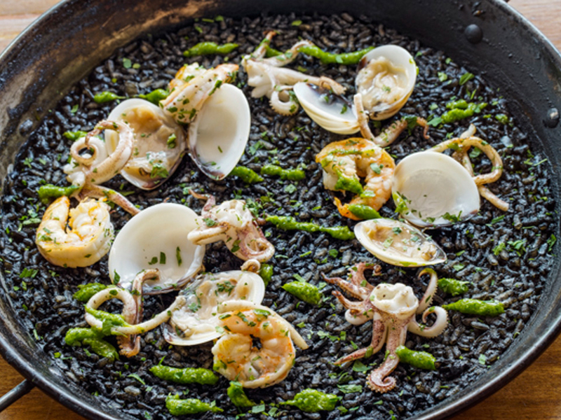 squid ink risotto by binomio