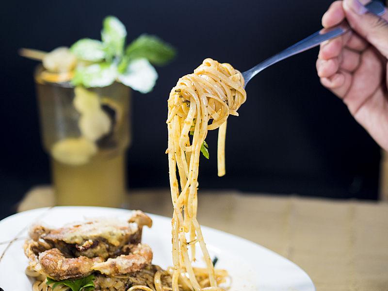 delicous spagetti with mojito