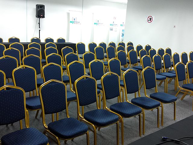 chairs set up for corporate event