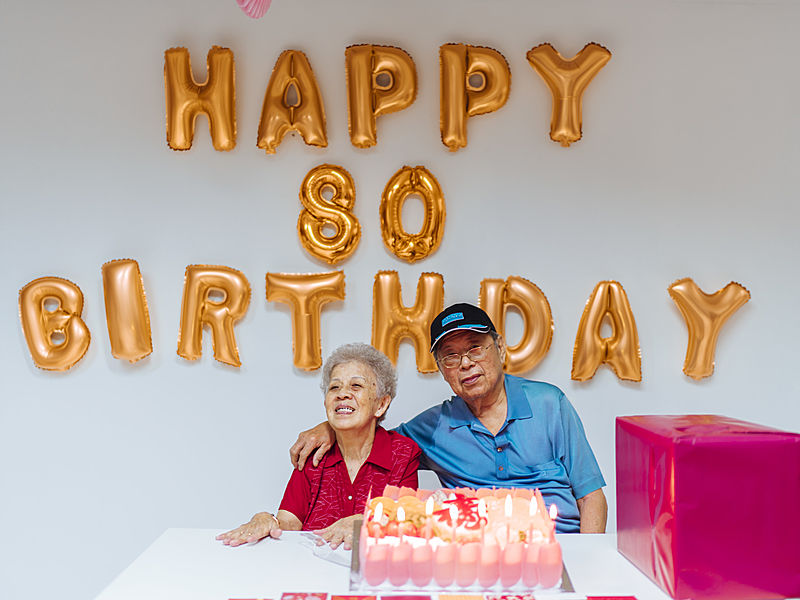 minimalist decoration ideas for celebrate 80th birthday party