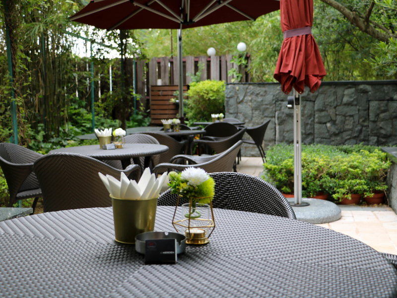 outdoor terrace area for business meeting