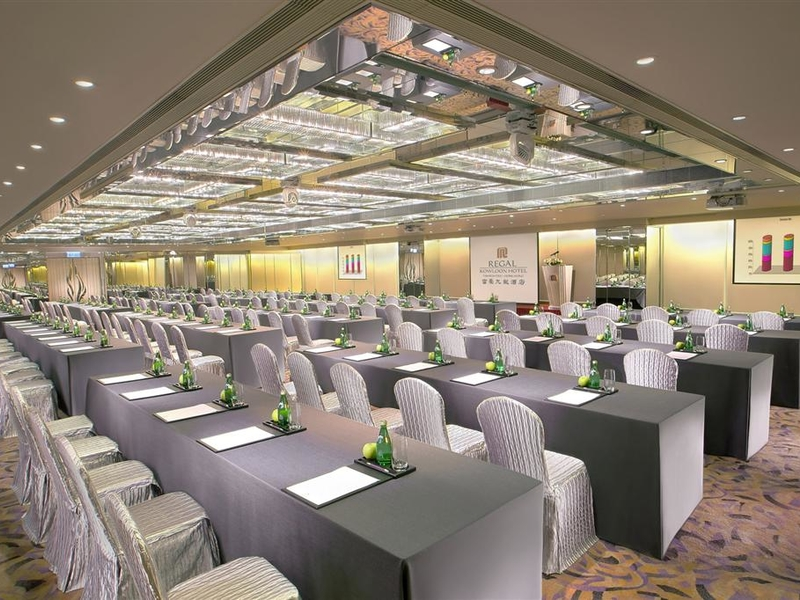 corporate conference event in hotel ballroom