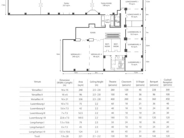 hotel meeting room blueprint