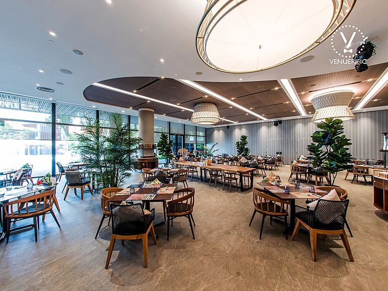 dining hall with natural light