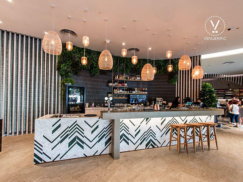 mini bar with polynesian islands interior