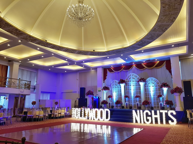 debut party with hollywood night theme
