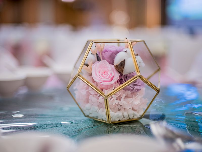 flower box for wedding party decoration