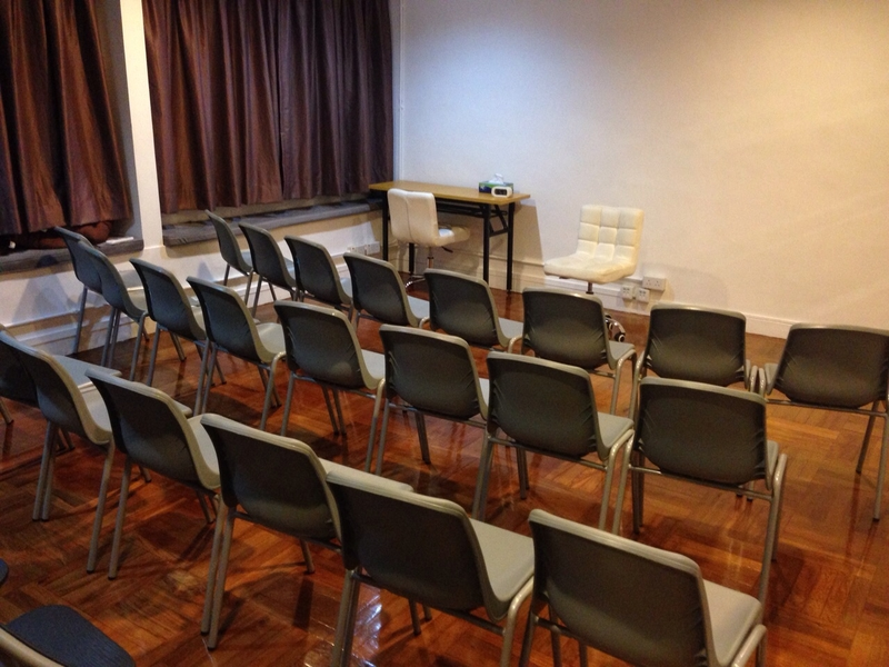 seminar and training area using theatre style seating
