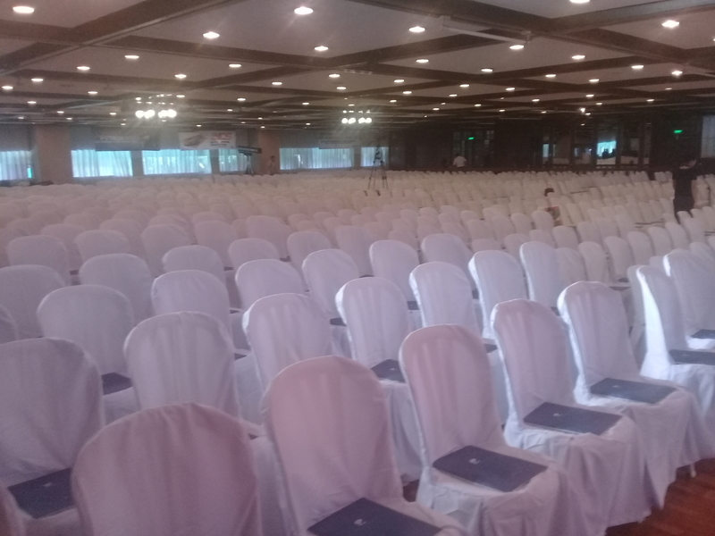 large seminar space in pasig with white audience chairs