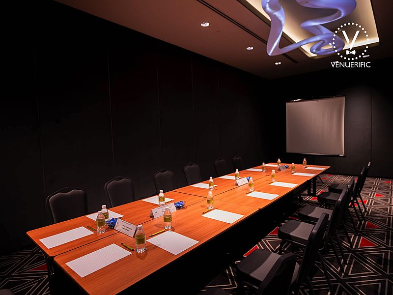 private meeting room with long table