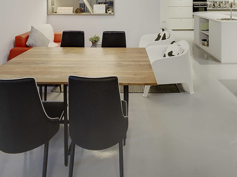 cafe area for small meeting with minimalist design